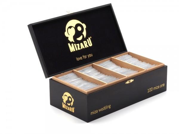 mizaru ® ENERGY POWDER | miza wedding | Hochzeitsgeschenk | Zigarrenbox | Gold | 100Stk.