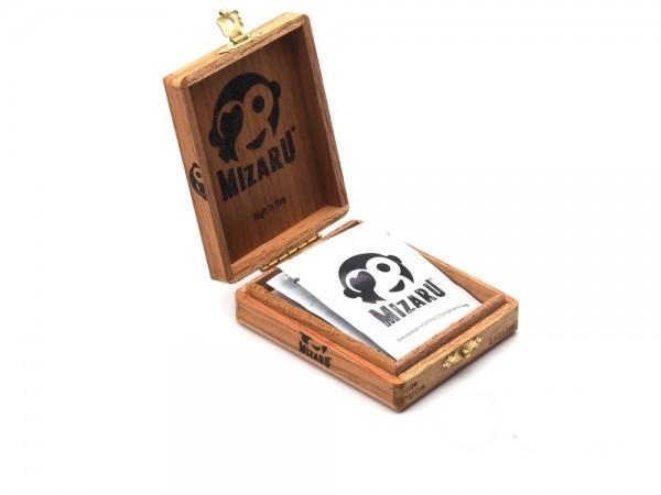 mizaru ® ENERGY POWDER | miza highfive | stay fresh | Geschenkbox Zedernholz | 5 Stk.